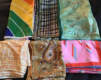 Vintage Vera scarf lot , 6 pieces, synthetic ans blends