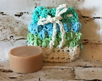 cotton soap sock, soap saver, crochet soap saver, cotton soap saver, soap bag, crochet soap bag, spa socks, crochet wash socks, soap pouch