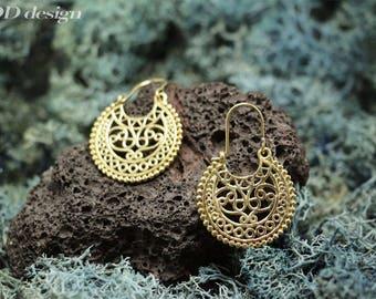 Delicate brass earrings