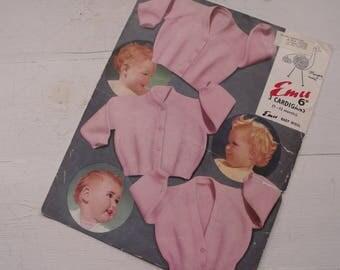 Baby Knitting Pattern, Baby Cardigan, Emu, 1 to 12 Months