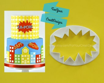 Speech bubble superhero cutter.  WOW!, POW!, ZAP! Comic Speech Superhero bubble cutter.