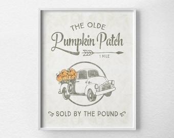 Fall Decor, Fall Prints, Autumn Print, Pumpkin Decor, Halloween Decor, Thanksgiving Decor, Fall Art, Autumn Decor, Rustic Farmhouse Decor,