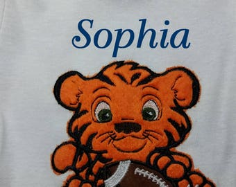 Tiger/Auburn/LSU/Football/Name Included/bodysuit or Toddler Shirt