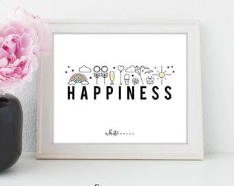 A4 Wall Art Print | Happiness
