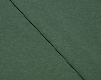 Khaki plain cotton spandex jersey (in multiples of 20cm) fabric