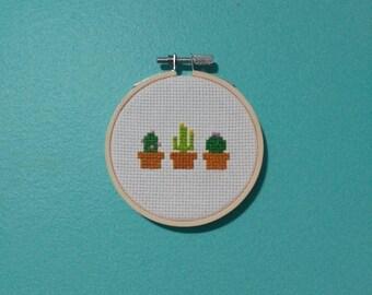 Mini Cactus Cross Stitch