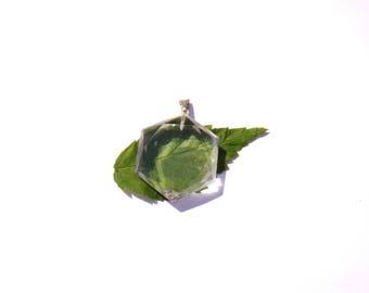 Natural rock crystal: seal of Solomon 24 mm in diameter pendant