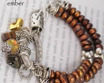 bracelet, citrine bracelet, pyrite bracelet, tigers eye bracelet, gold bracelet, bohemian bracelet, Christmas for her, Black Friday