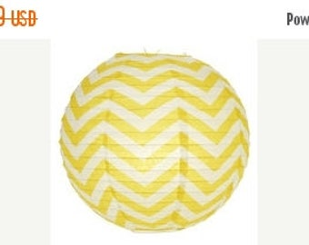 "ON SALE 14"" Chevron Stripes Paper Lantern"