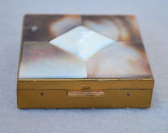 Mother Of Pearl Compact Vintage