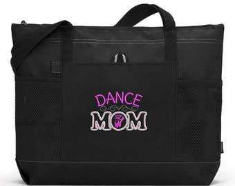 Embroidered Dance Mom Tote Bag/ Dance Mom Tote Bag/ Dance Mom Bag/ Dance Tote Bag/ Choose Color