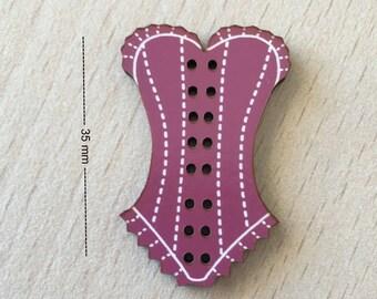 "pretty ""pink lace corset"""