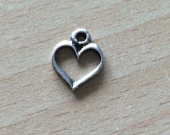 the heart the charms in silver