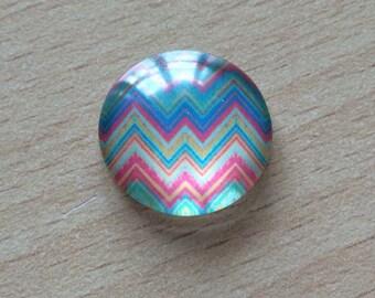 Nice geometry 08 pattern glass cabochon pendant