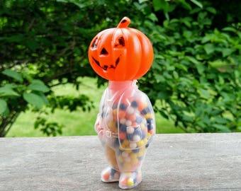 Vintage E. ROSEN Halloween Man Plastic Jack-O-Lantern