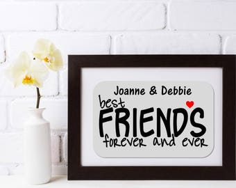 Personalised Best Friends Framed Quote