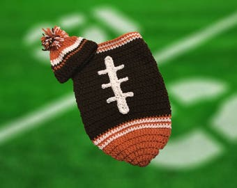 Cleveland Fan Favorite Baby Boy Football Cocoon & Hat (Newborn to 3 months)