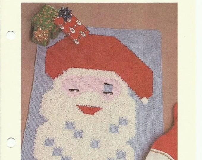 Retrocon Sale - Santa Claus patchwork crochet pattern digital download