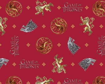 Game of Thrones Fabric HBO You Win or You Die From Springs Creative 100% Cotton