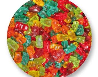 X 1 candy gummy bear metal 25mm Cabochon