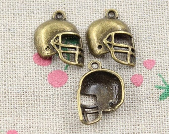 Football helmet 2 X antique bronze 20mm