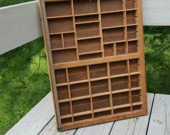 Vintage Shadow Box Wood Cubby for Miniatures