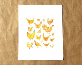 Chicken Party Print