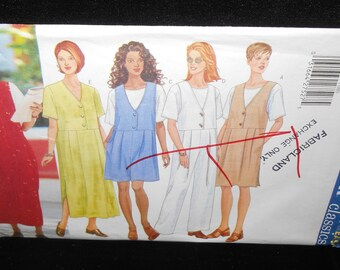 Misses Dress Butterick 5537 Womens Sizes 8 10 12  Jumper Jumpsuit Top Fast Easy