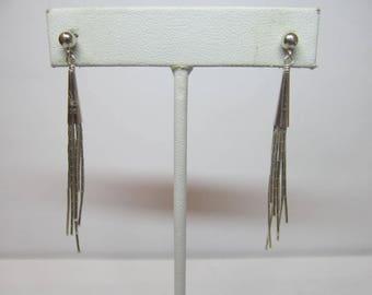 925 Silver Dangle Earrings W #825
