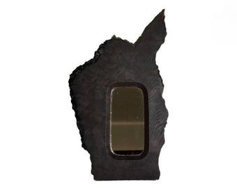Vintage Black Walnut Forest Mirror Perfect for a Cabin or Lake House