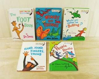 Dr Seuss Library Bright and Early Books The Foot Book Dr Seuss Book Set Early Readers Al Perkins Theo LeSieg Beginning Beginners