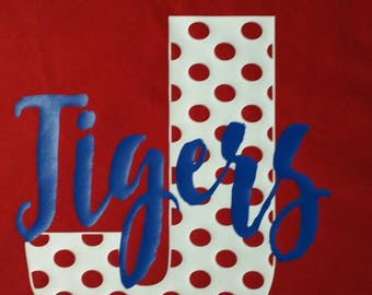 School spirit shirt. Personalized shirt