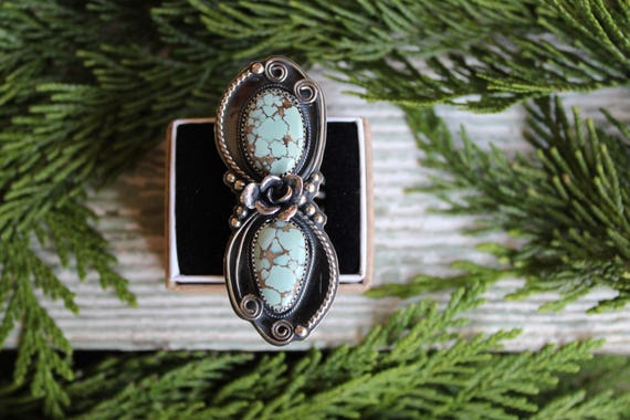 Hubei Turquoise Succulent Ring