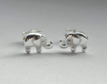 Sterling silver elephant earrings, Elephant earrings, Cute silver elephant earrings, Elephant jewellery, Earrings for children