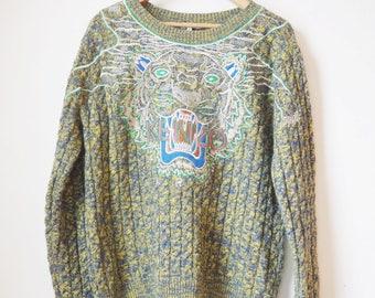 Vintage tiger Kenzo sweater/crewneck-90 s P10