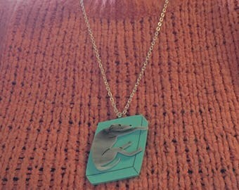 Lazy Hound - greyhound whippet laser cut acrylic pendant/necklace