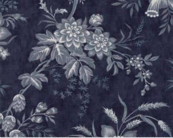 Snowberry Prints~Floral Toile~Dark Blue~Cotton Fabric, Quilt~Moda~Fast Shipping F926