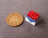 1/12th scale Raspberries in punnet