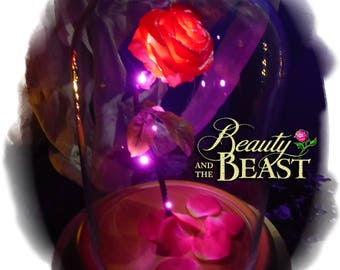 Beauty and the Beast  Enchanted Rose Dome Disney Fairy Tale Inspired LIFE SIZE Replica Gift