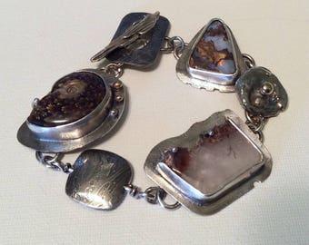 Multi Stone Silver Bracelet