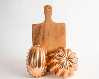 Copper-Toned Metal Jello Molds Kitchen Wall Decor
