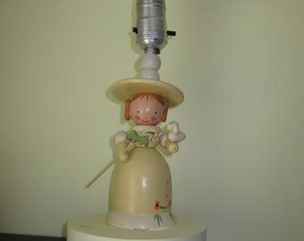 NURSERY PLASTICS LTD, Mary Had a Little Lamb, Nursery Rhyme, Bedside lamp, night light, table lamp, mailed from Canada