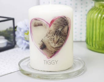 Pet Photo Candle - Personalised Pet Candle - Pet Photo Gift - Photo Present - Pet Loss Gift - Photo Candle Gift - Personalised Candle