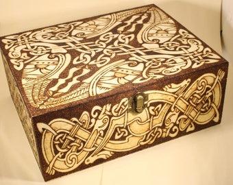Celtic Knot Pyrography Box