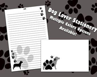 Dog Stationery - Paw Print Stationery
