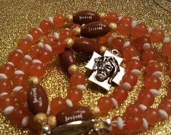 Sports team rosary any team any sport any color
