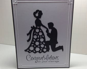 Clean and crisp wedding card