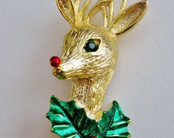 Gerry's Rudolph The Red Nosed Reindeer Brooch Pin