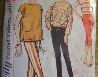 """41% OFF 1960's Vintage Misses' Blouse / Overblouse / Pants Simplicity Sewing Pattern 2814 Size 16 Bust 36"""""""