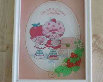 Vintage Strawberry Shortcake glass art by Lu Lu's - 'Life is full of sweet surprises!'